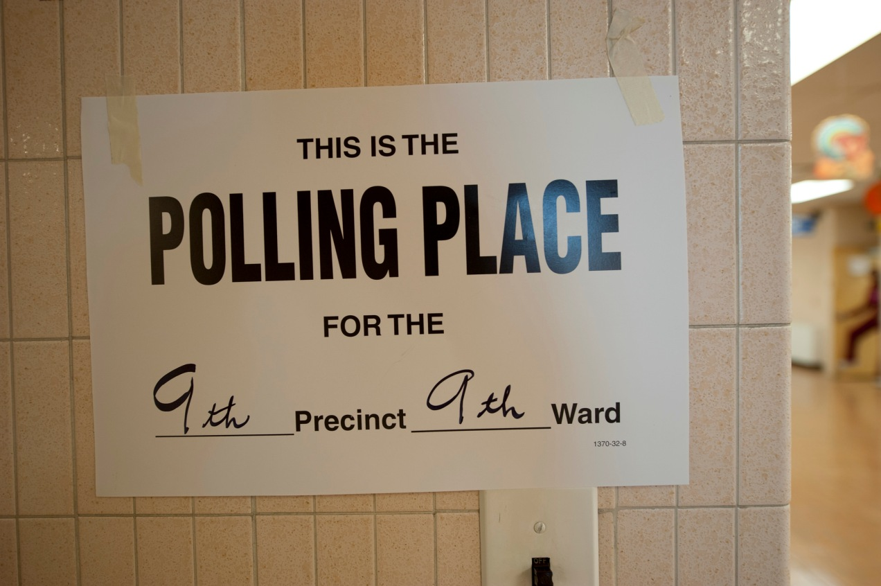 sign for polling place