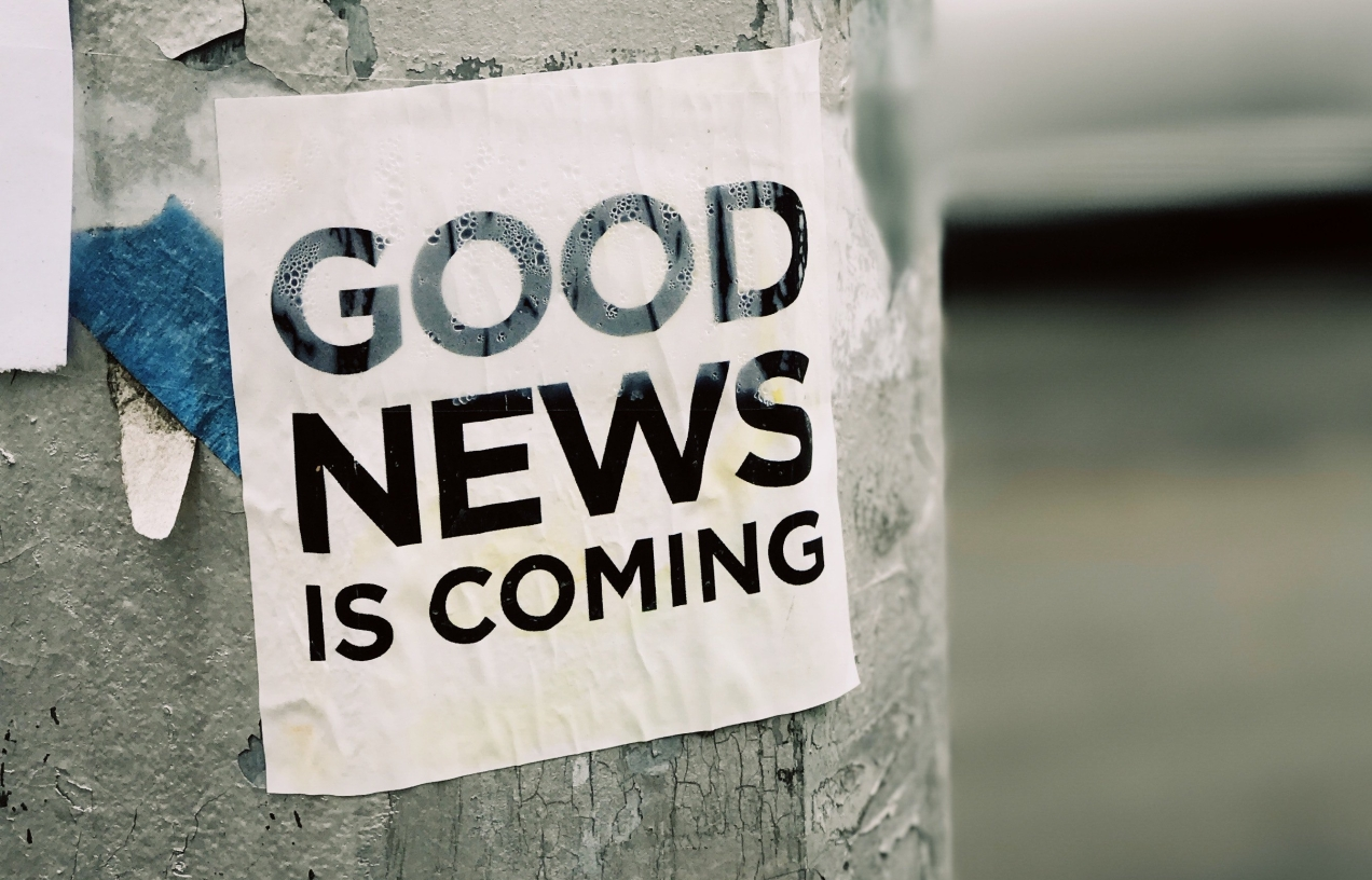GOOD NEWS IS COMING sticker